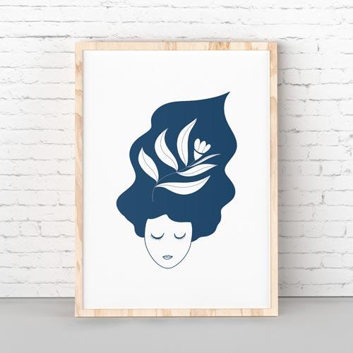 Thinking lady wall art