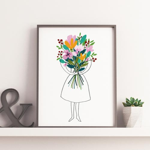 Floral bouquet art