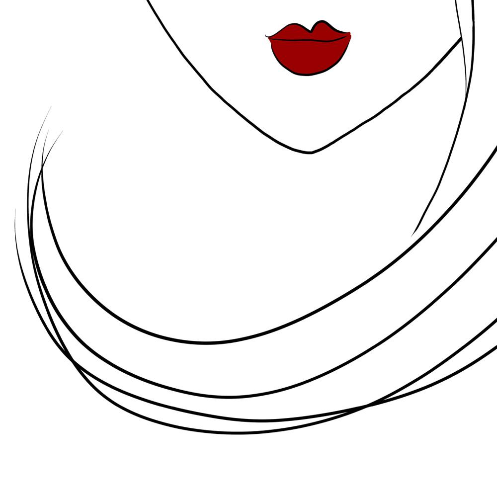 Woman face art detail