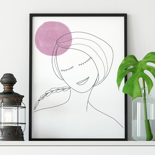 Thinking woman wall decor