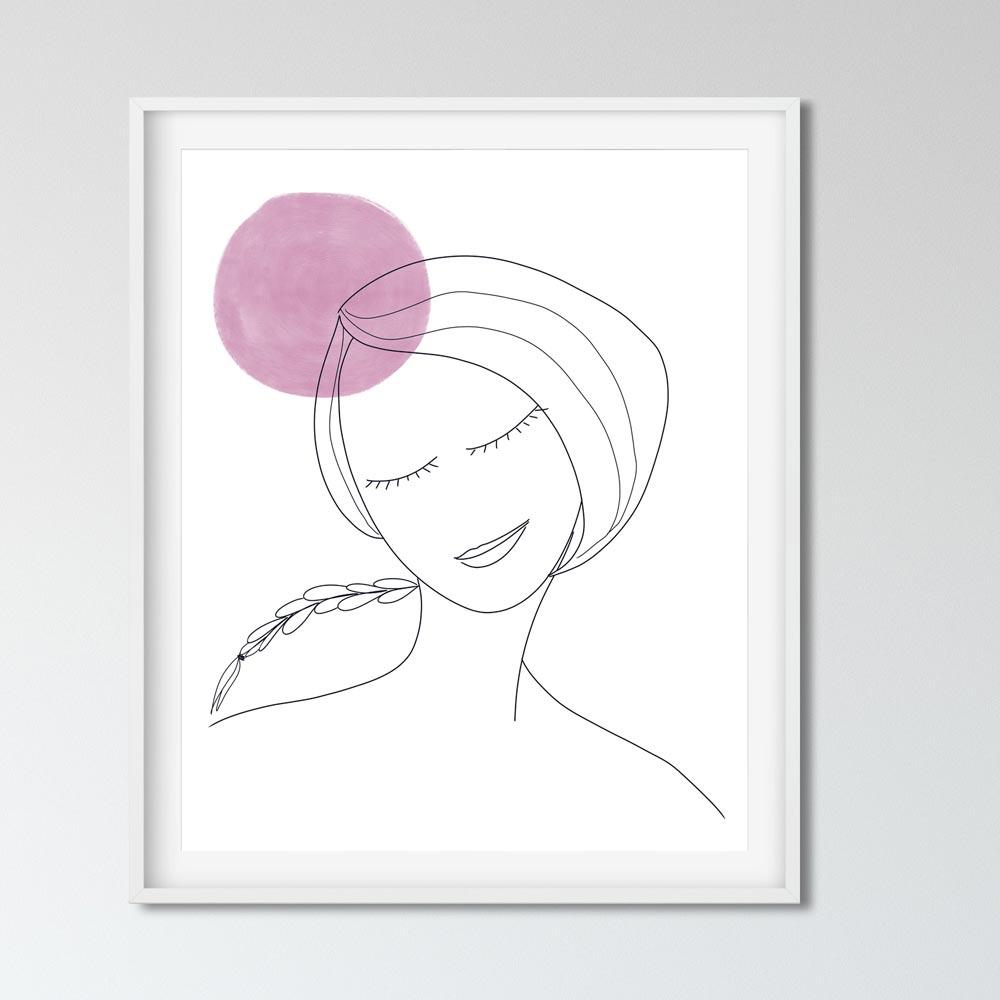 Thinking woman wall art