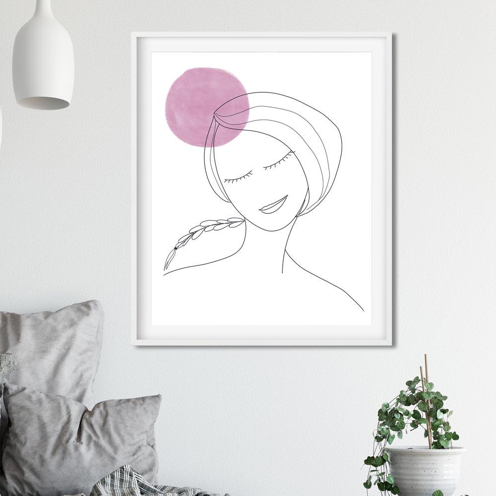 Thinking woman printable wall art