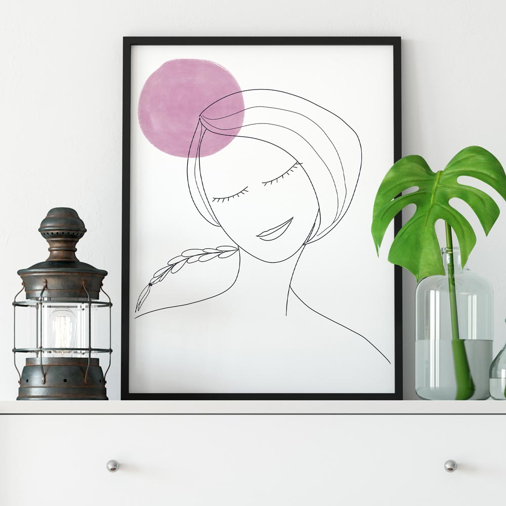 Thinking woman wall art decor