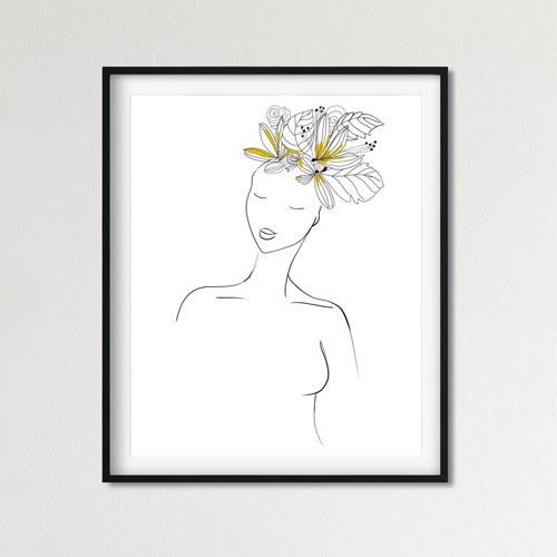 Yellow hair woman wall decor