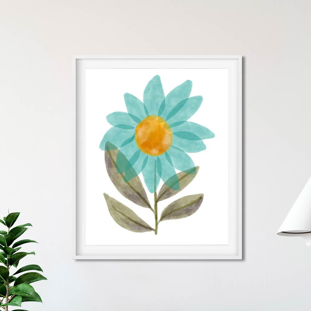 Printable modern floral art
