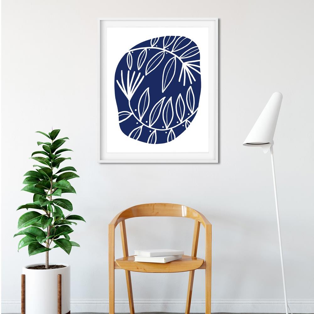 Modern Scandinavian wall decor detail