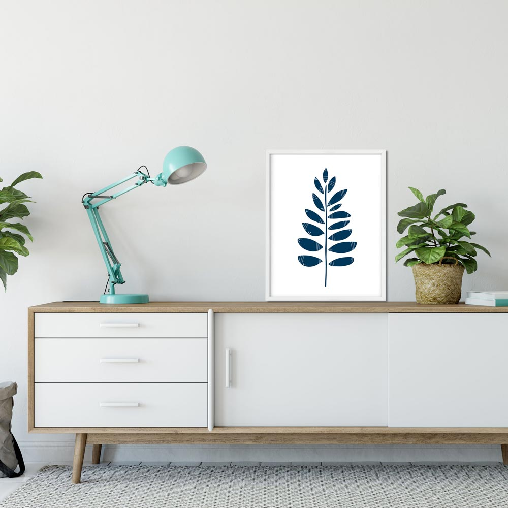 Leaves printable art wall in frame