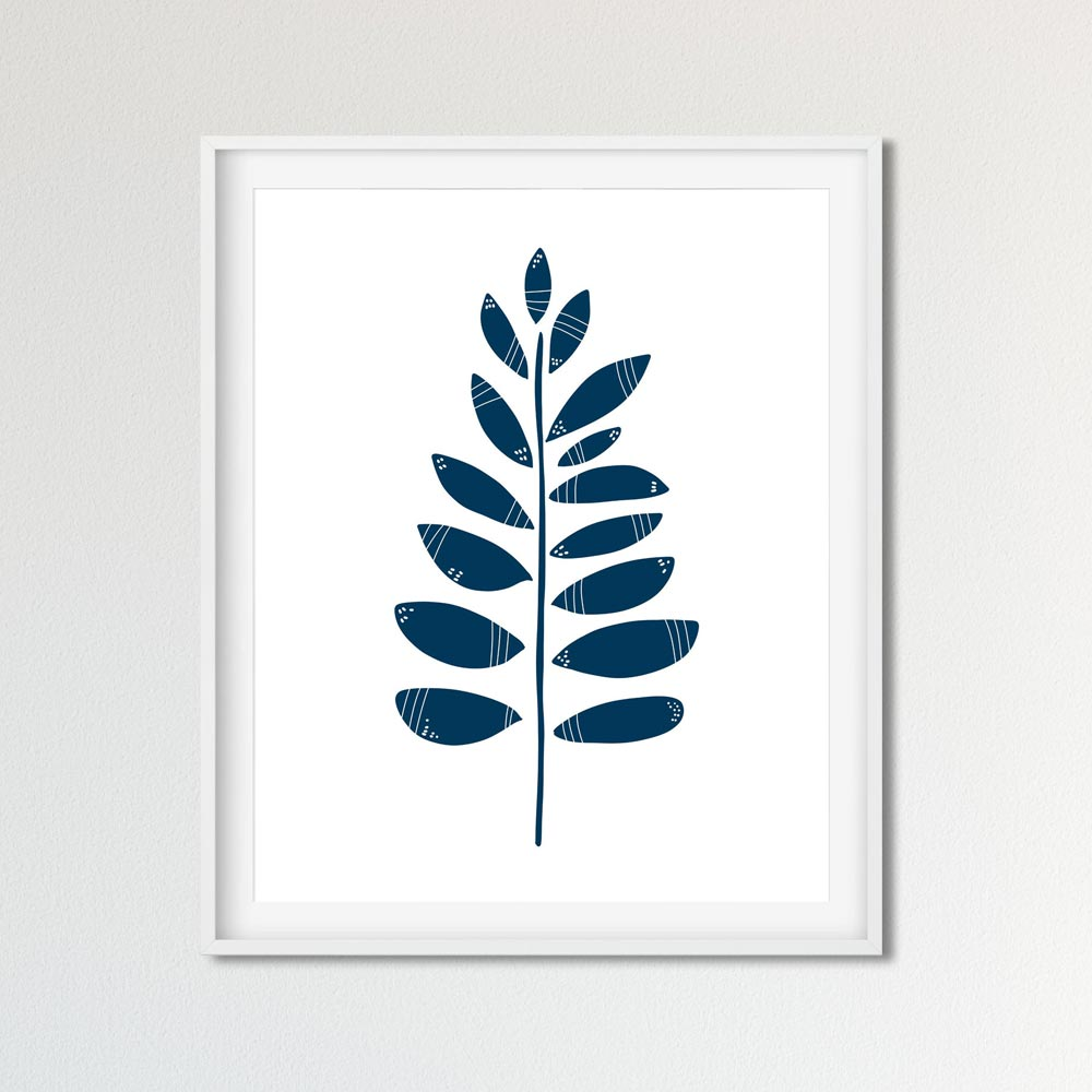 Leaves printable art