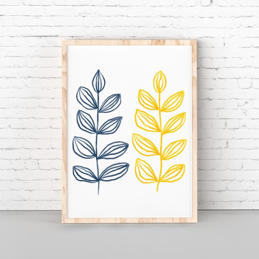 Modern botanical printable wall art