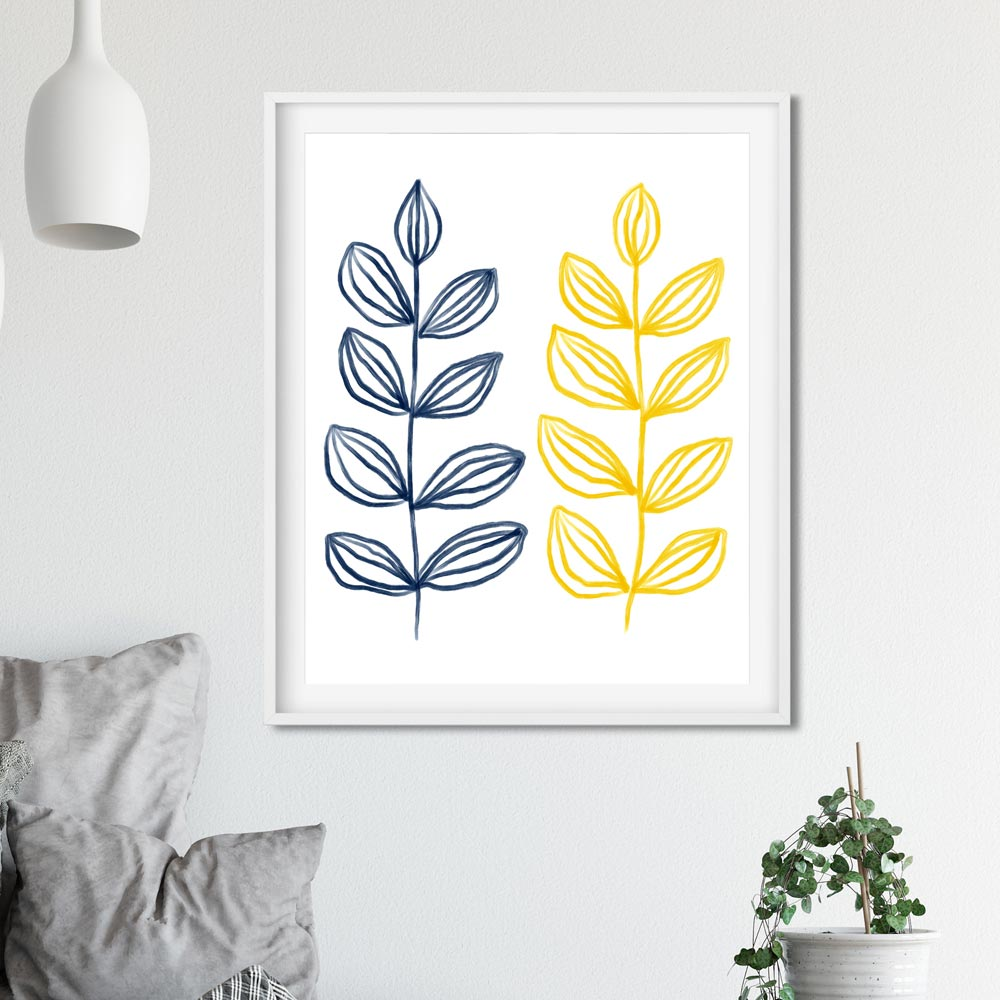 Modern botanical art decor