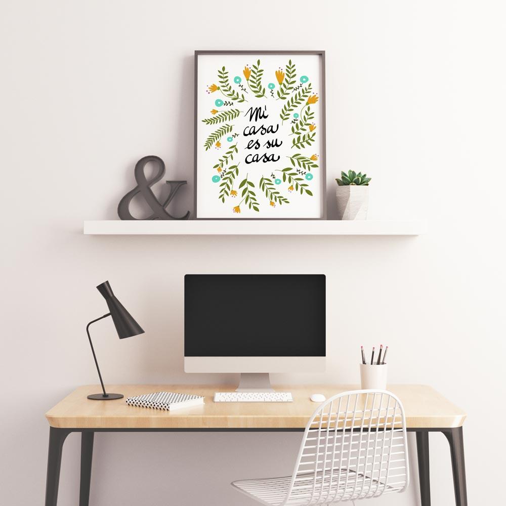 Mi casa es su casa illustration printable art