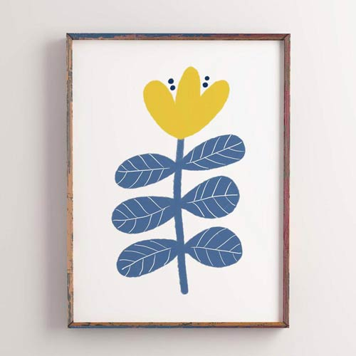 Scandi flower wall art