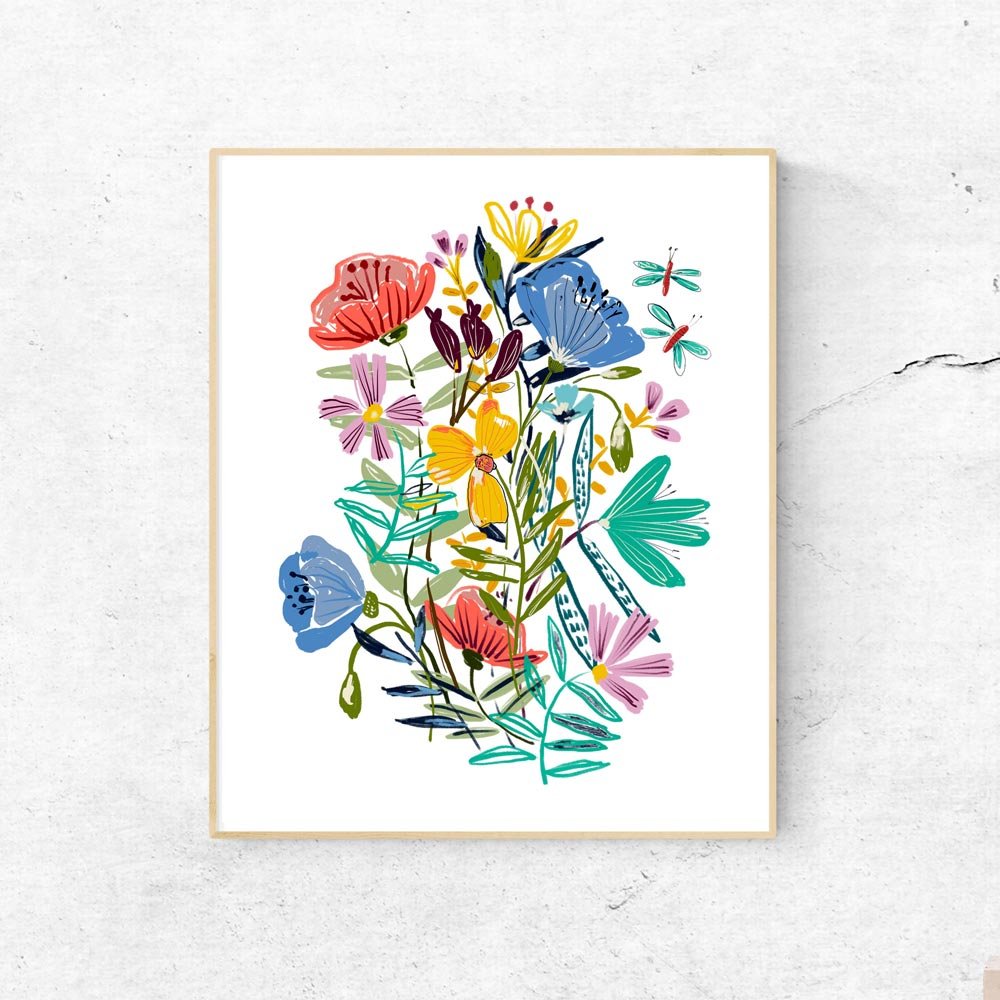 Printable wildflowers art 1