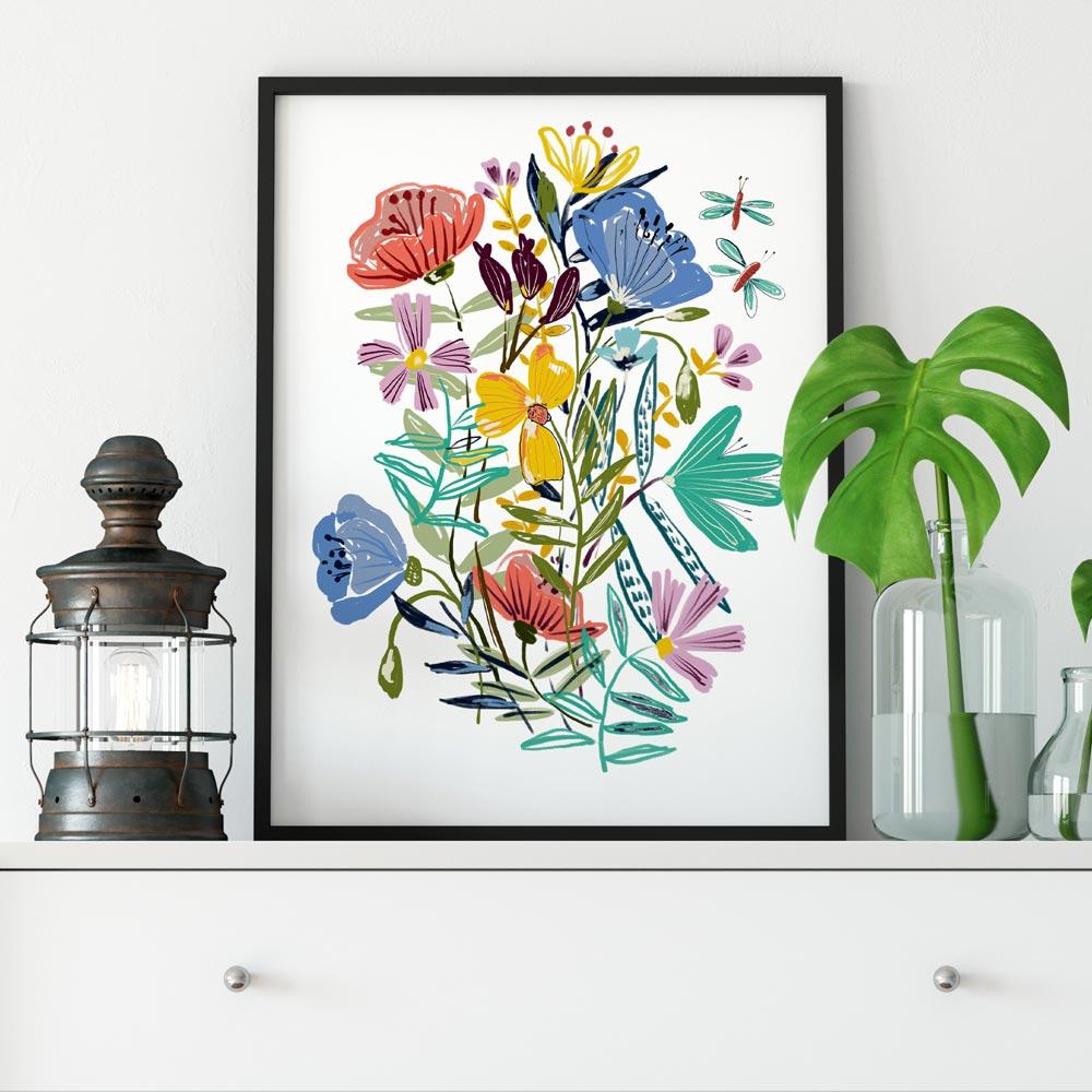 Printable wildflowers art 2