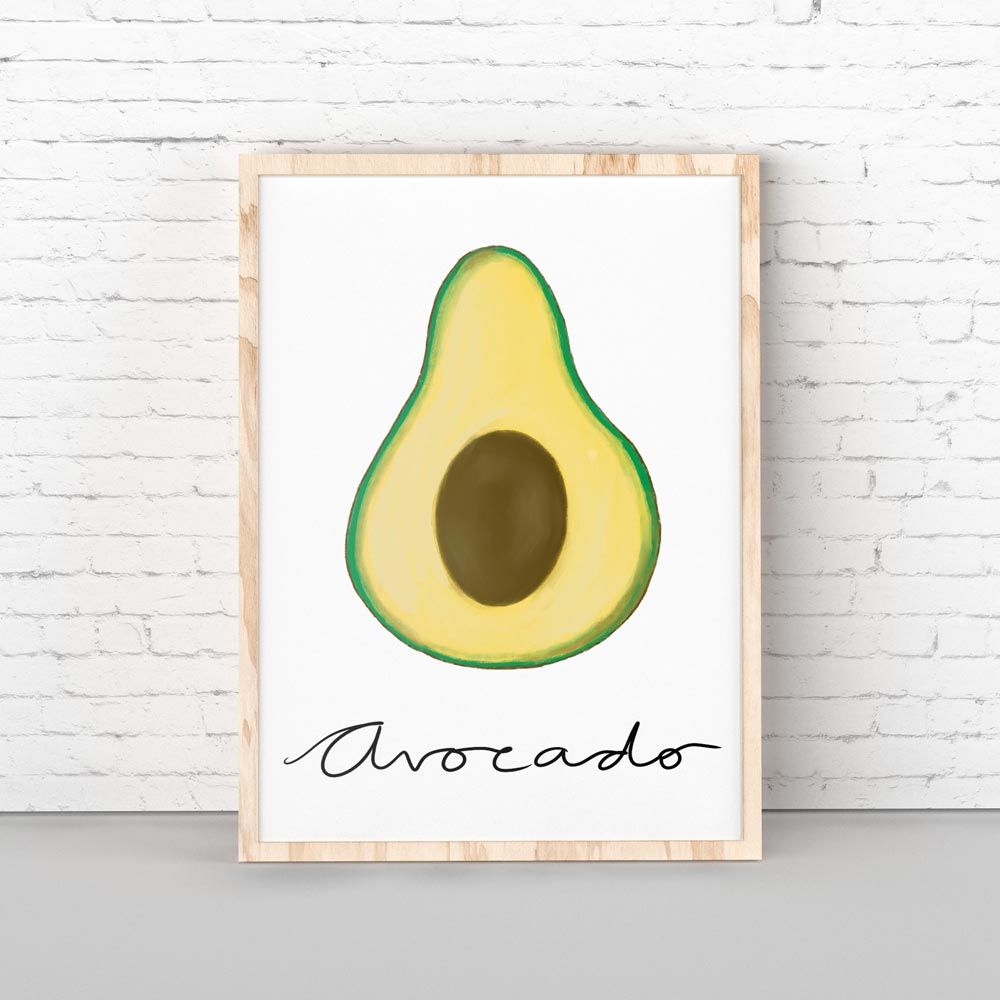Avocado wall art decor