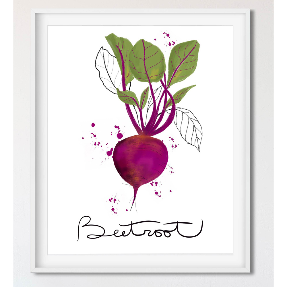 Beetroot vegetable wall art