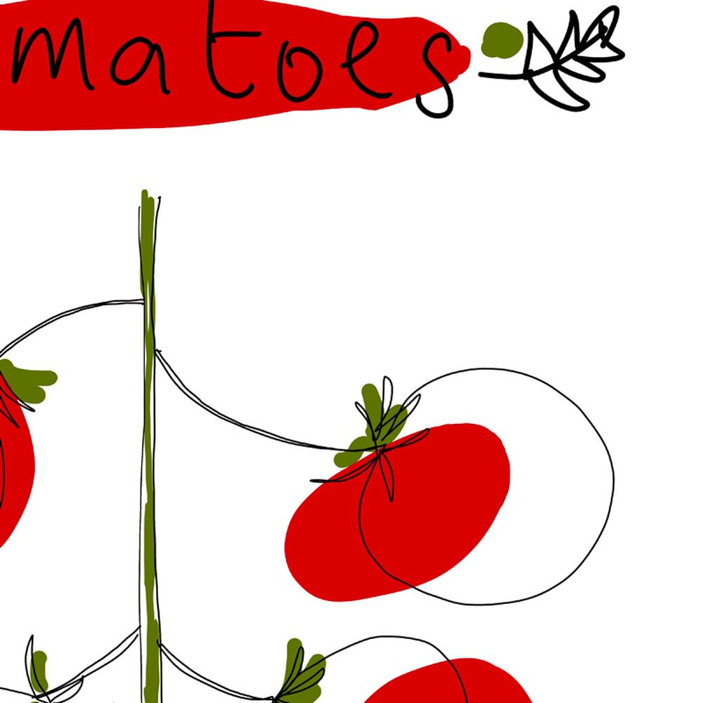 Cherry tomatoes kitchen art detail