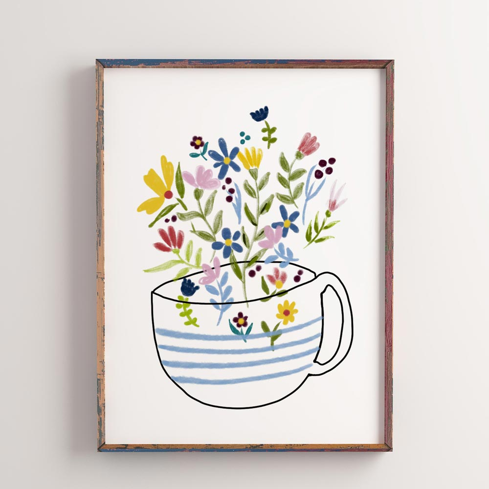 Kitchen wall decor coffee cup