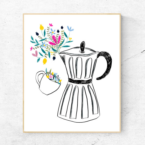Coffee machine wall art