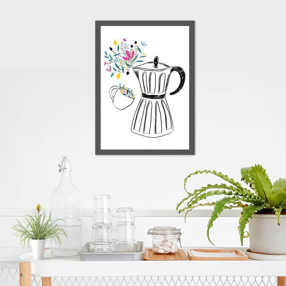 Coffee machine printable art
