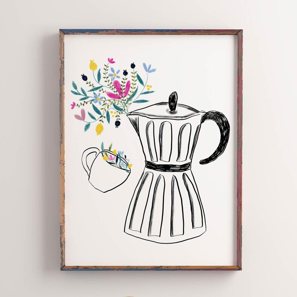 Moka coffee machine printable