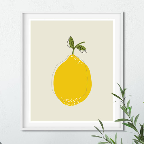 Lemon printable