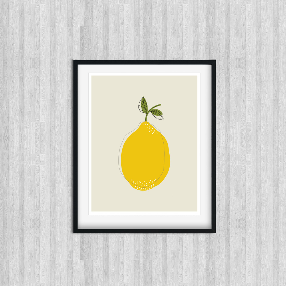 Lemon printable wall art