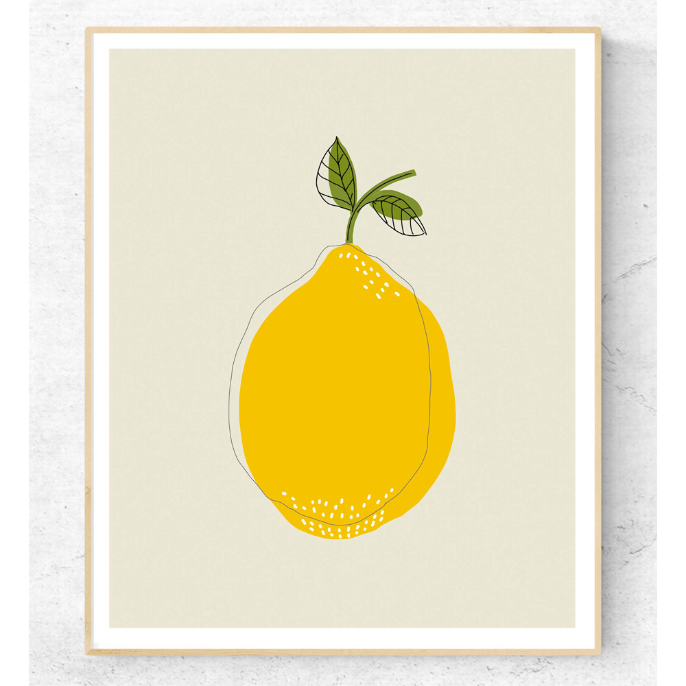 Lemon illustration printable art