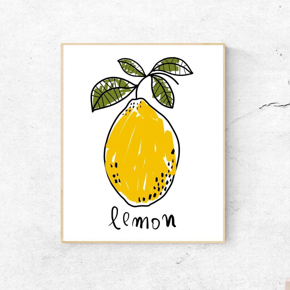 One Lemon kitchen wall art decor