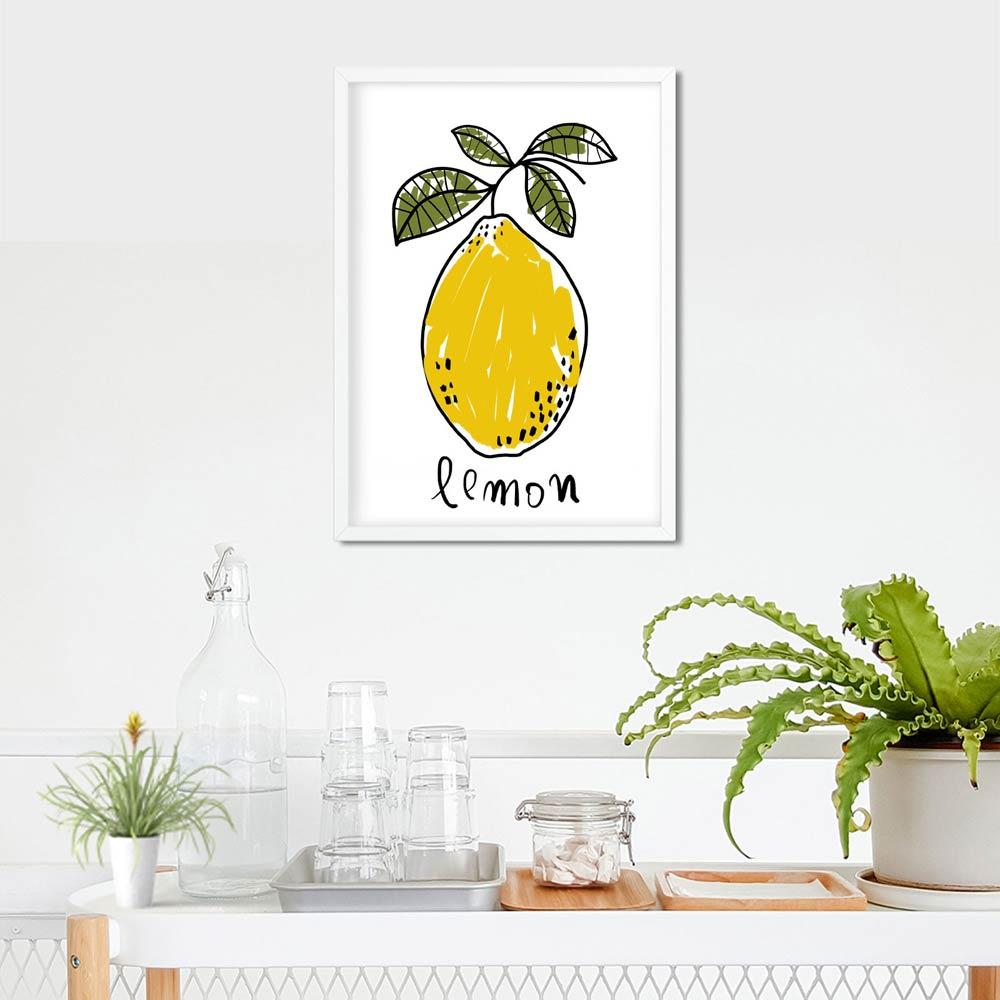 One Lemon kitchen wall art