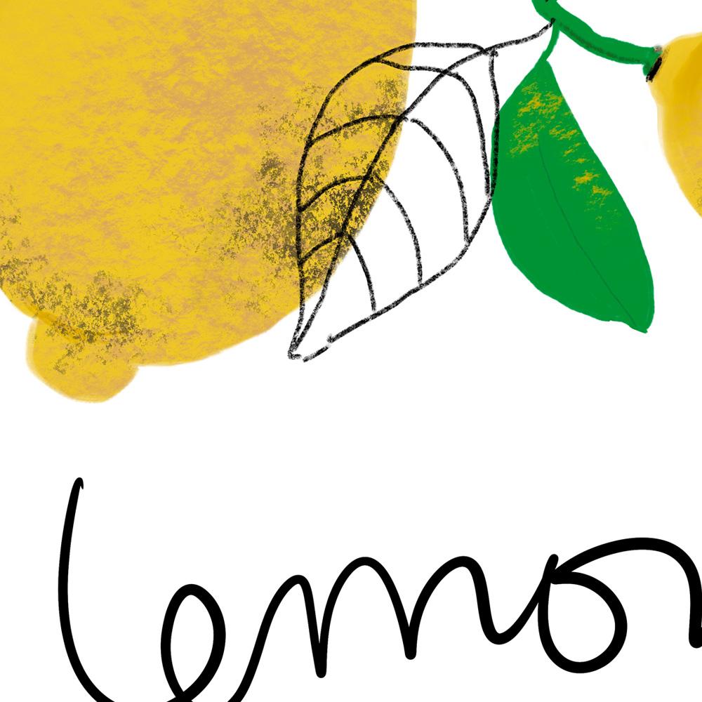 Lemons wall art detail
