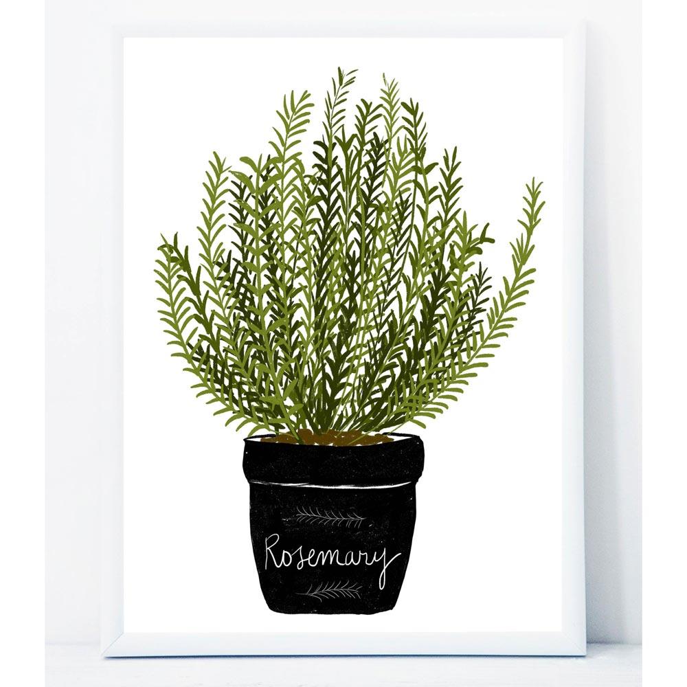 Aromatic herb kitchen printable art