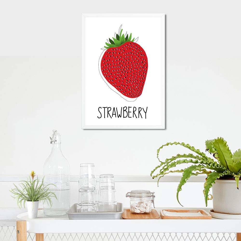 Strawberry kitchen wall art