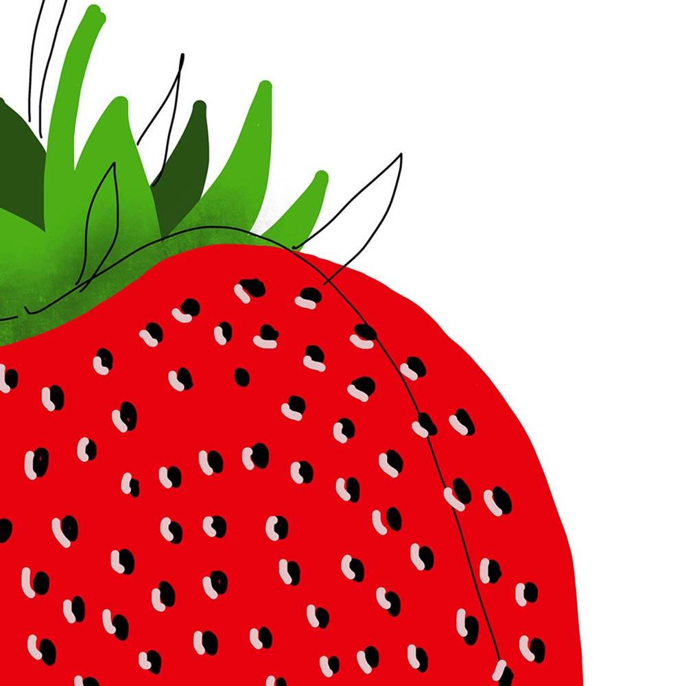 Strawberry wall art detail