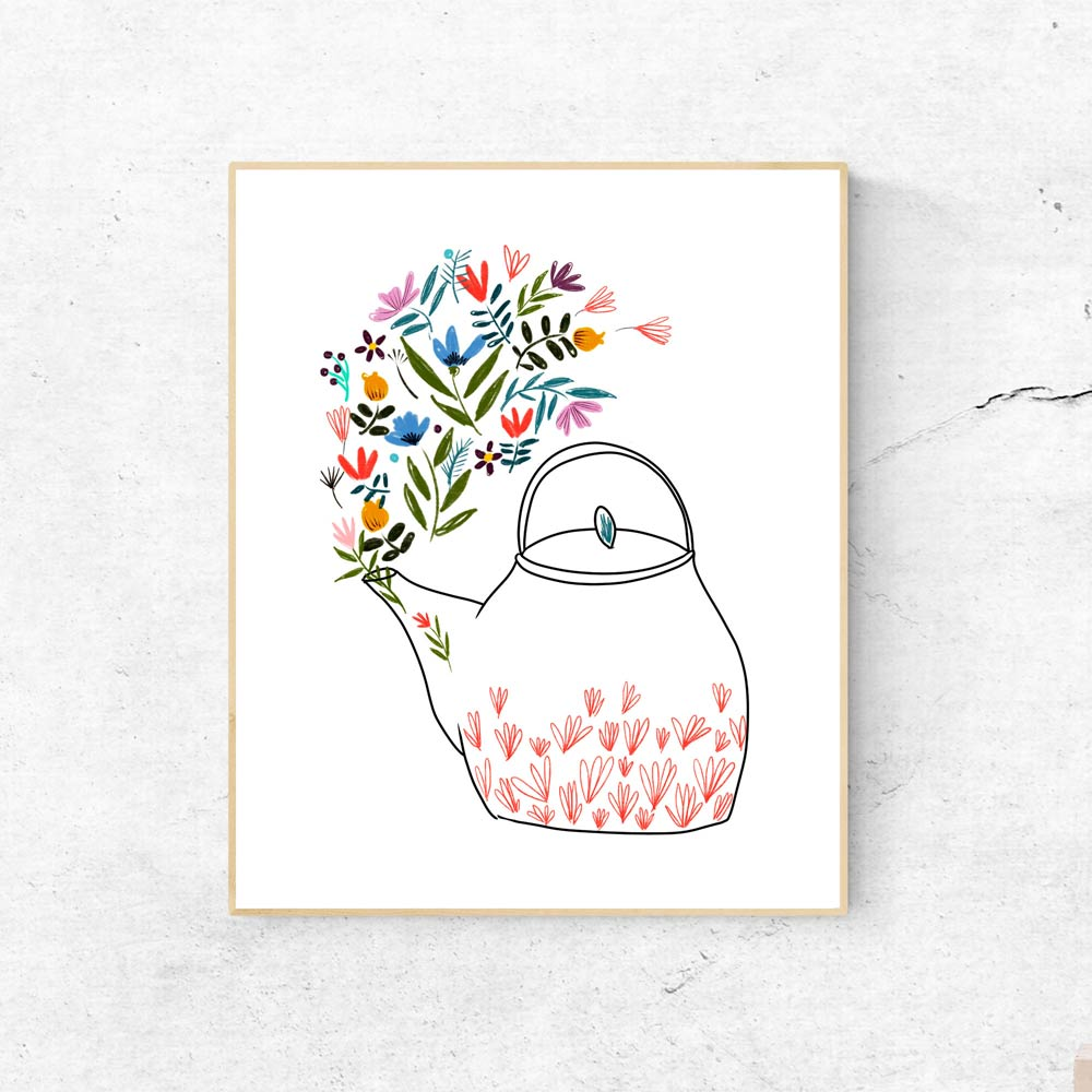 Teapot wall art decor