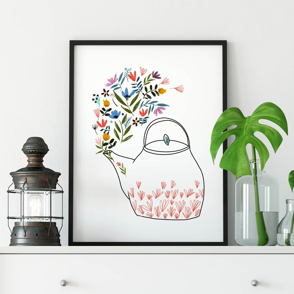 Teapot wall art