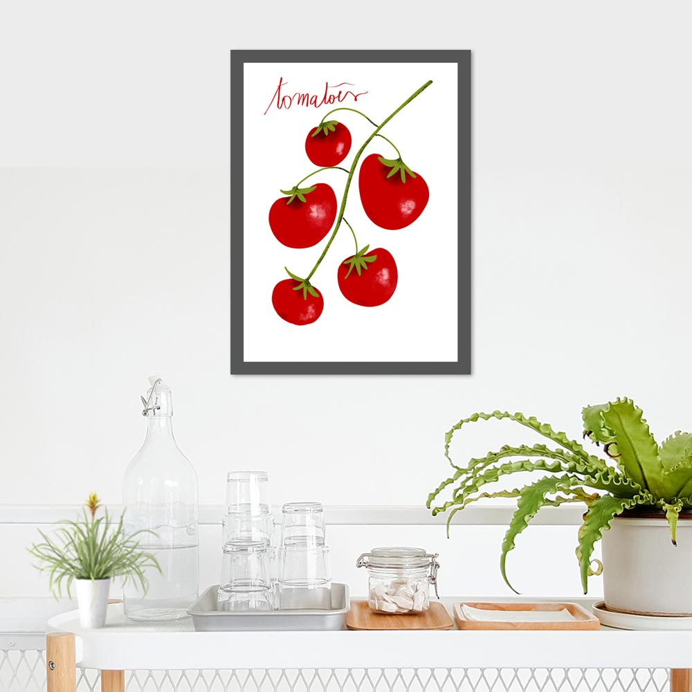 Tomatoes wall decor in frame