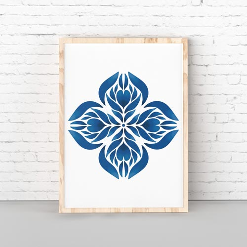 Blue Manadala wall art