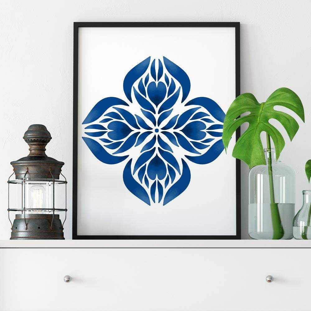 Blue Manadala wall art