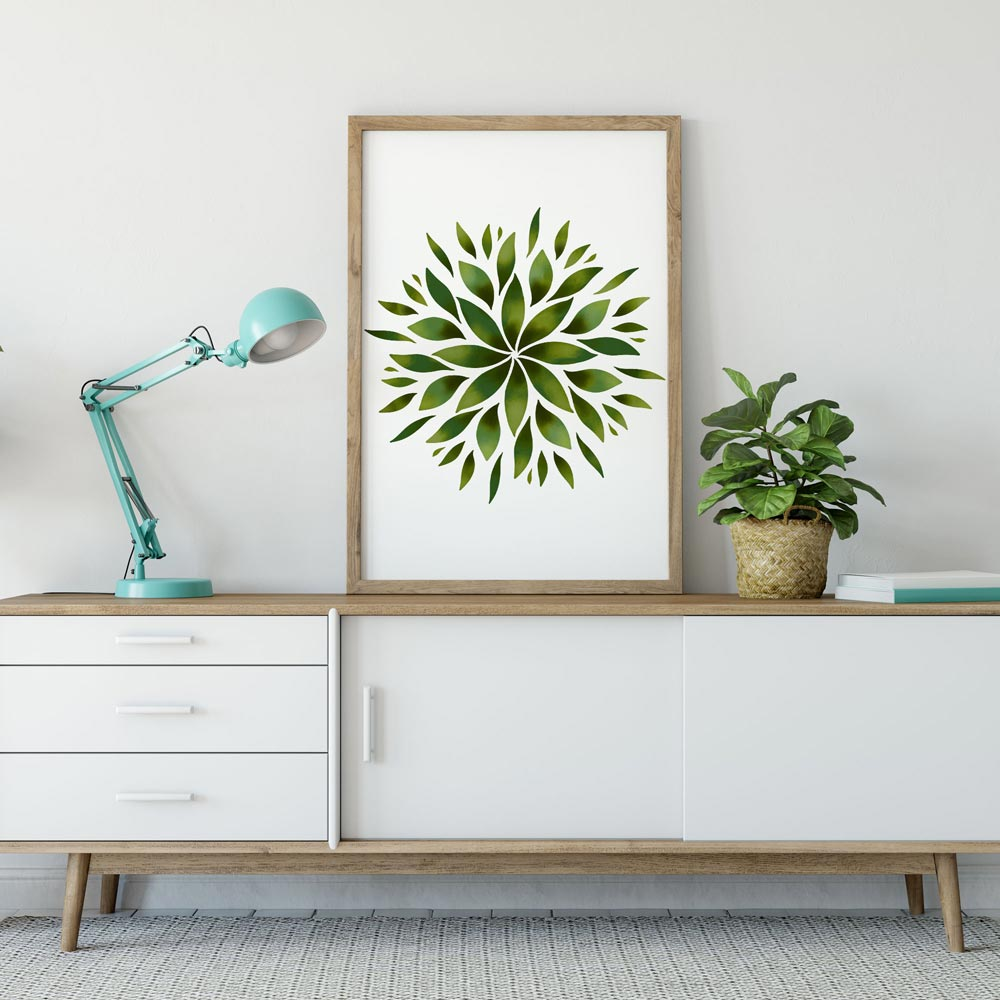 Green Mandala wall art