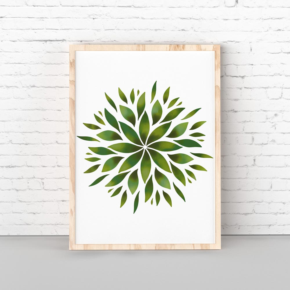 Green Mandala art