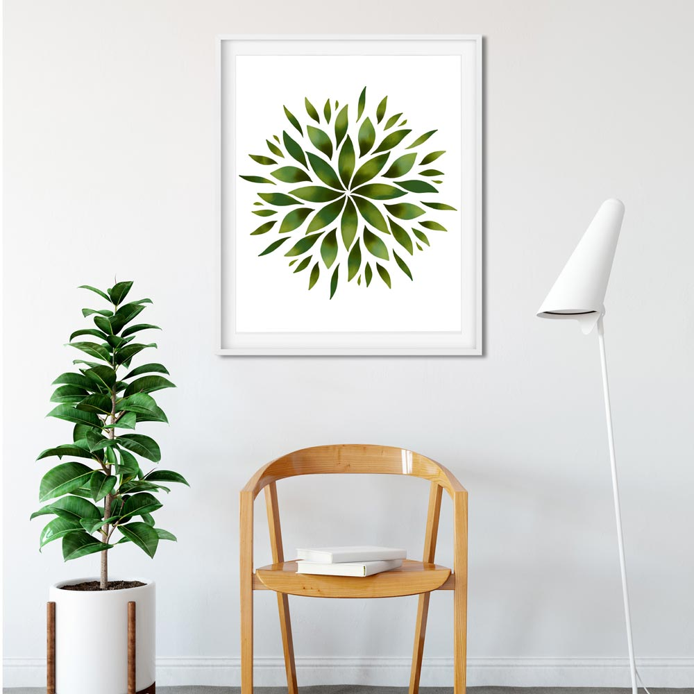 Green Mandala printable art
