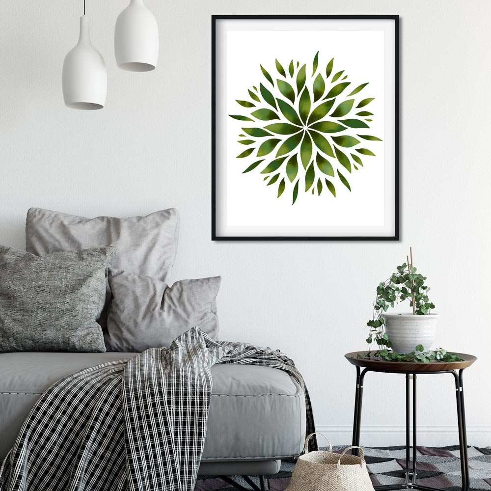 Green Mandala home decor