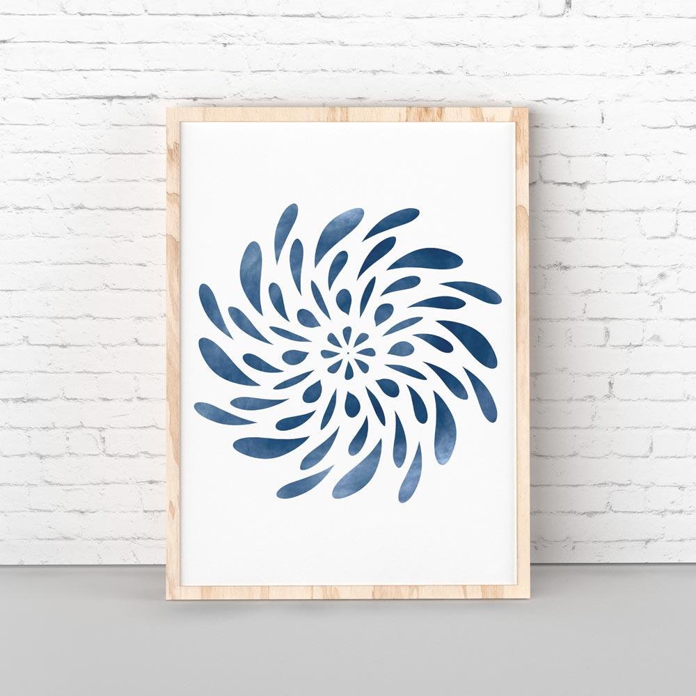Spinning Mandala wall art decor