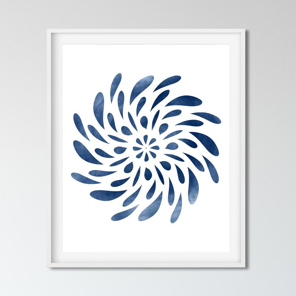 Spinning Mandala art decor