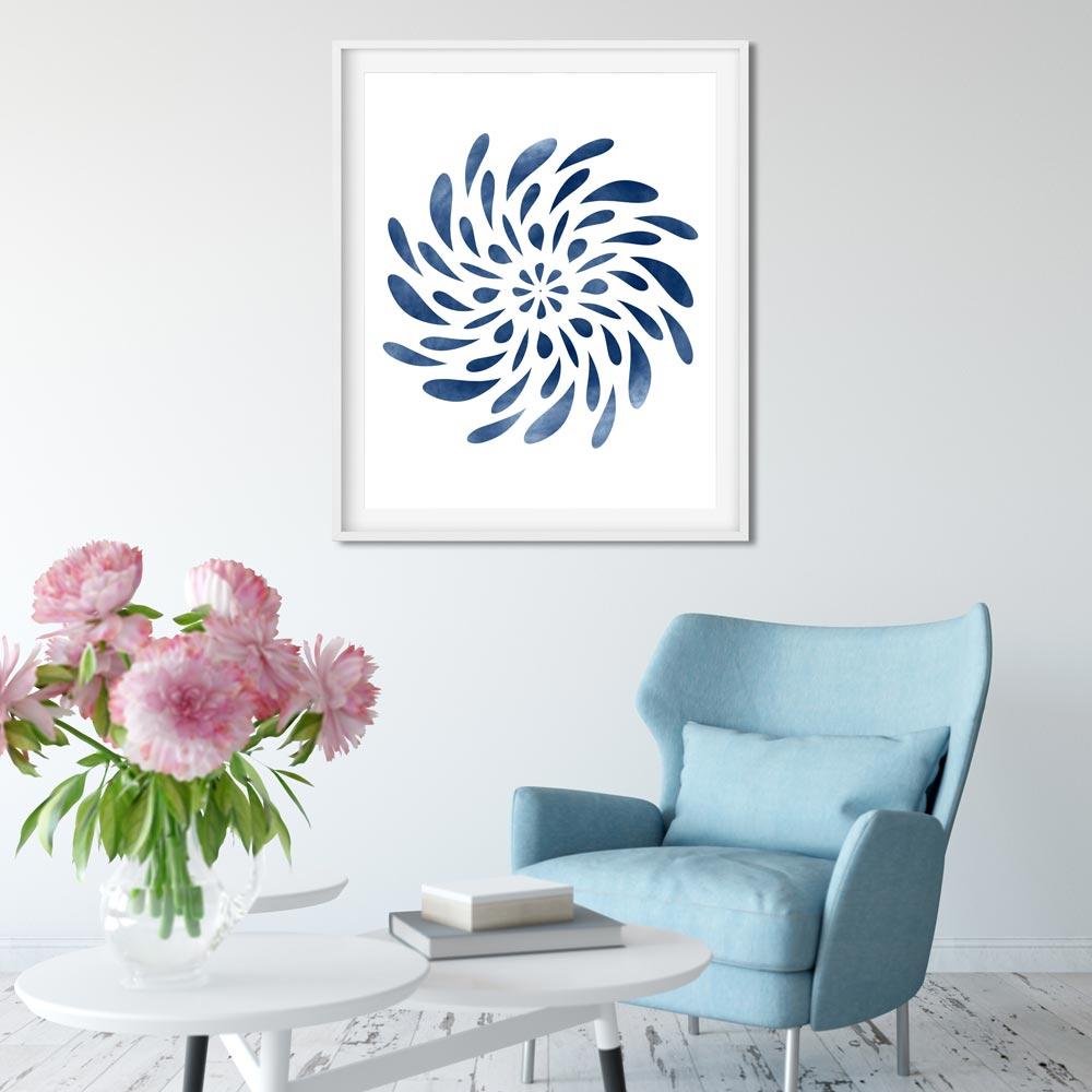 Spinning Mandala wall art