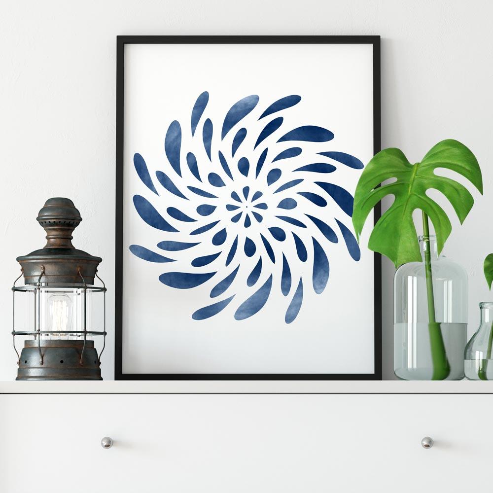 Spinning Mandala printable art
