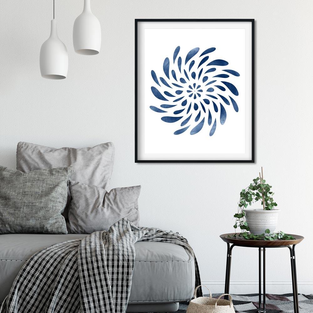 Spinning Mandala wall art printable detail