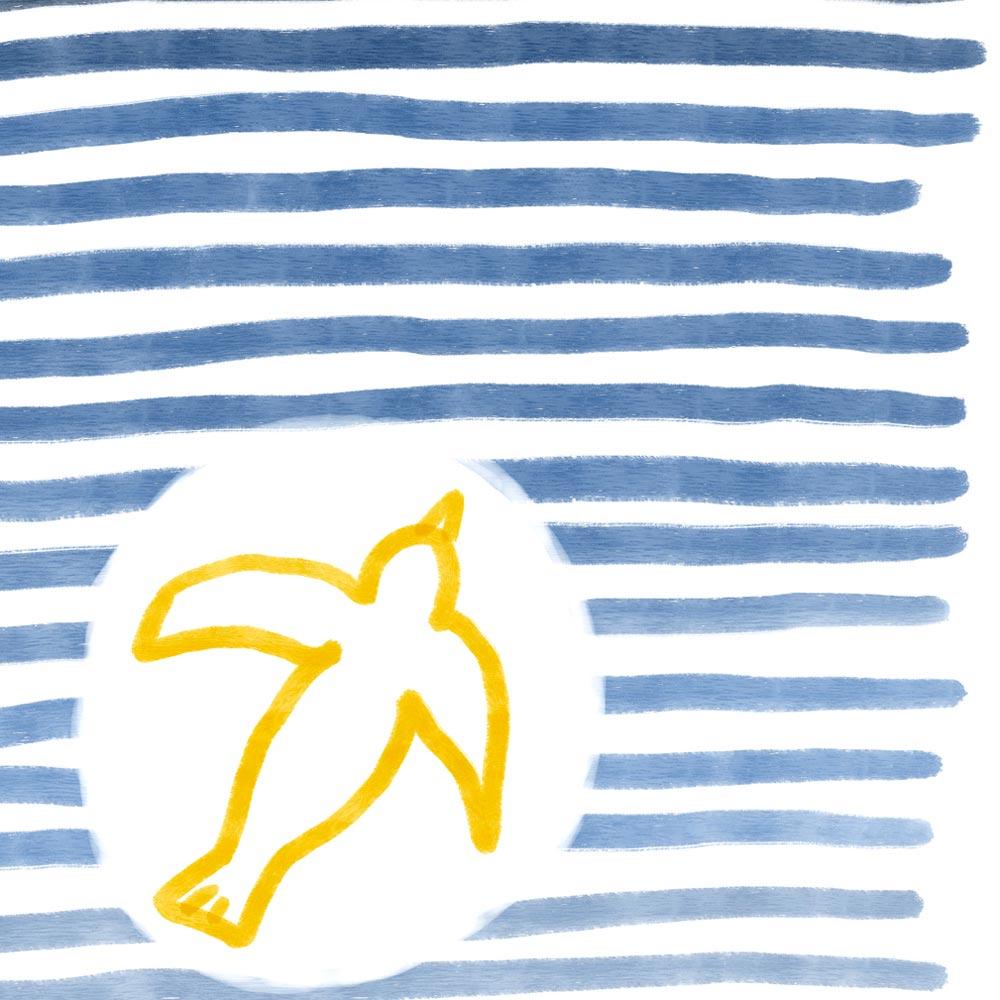 Flying bird art detail