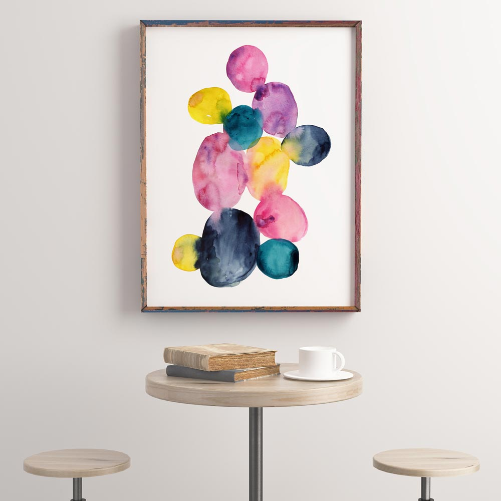Watercolor dots Printable art wall